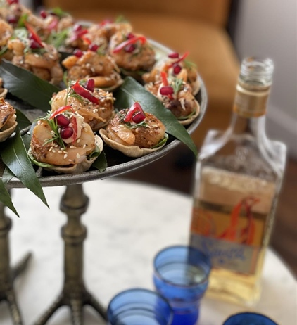 Tequila butter prawns to open your Christmas feast